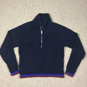 J crew women's Half-zip jacket in sport stripe S